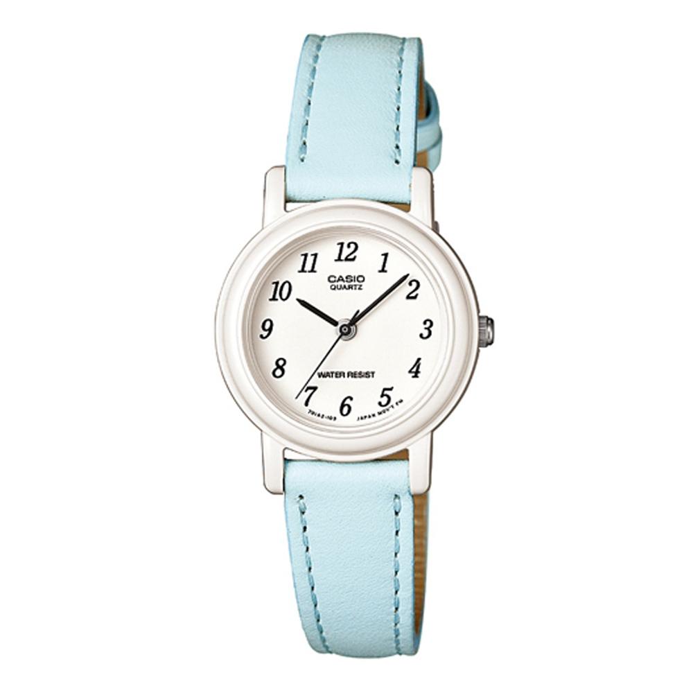 CASIO 馬卡龍甜心魅力皮帶腕錶(LQ-139L-2B)-粉嫩藍/26mm