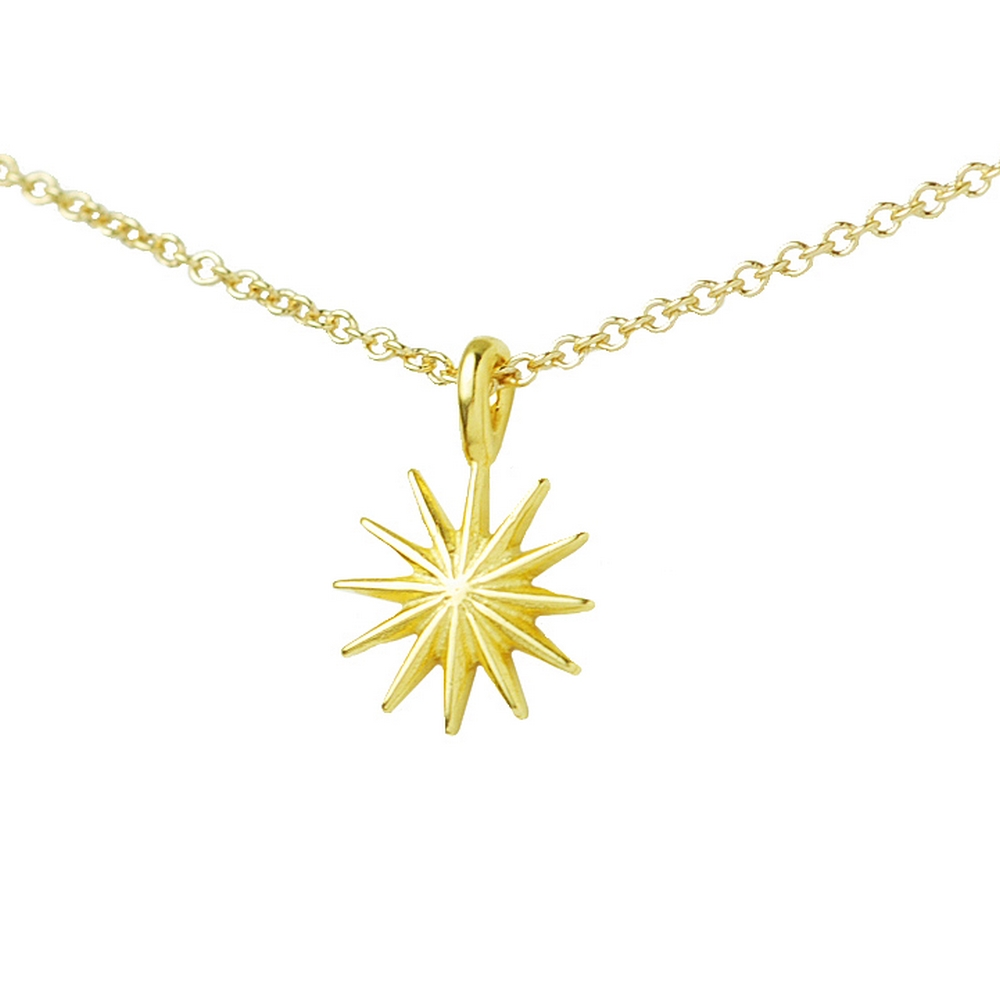 Dogeared美國品牌reminder金色許願項鍊-太陽