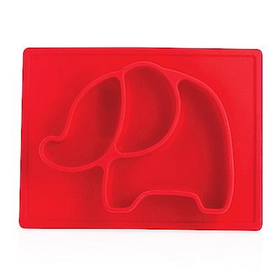 Nuby 動物矽膠餐盤-大象紅(6M+)