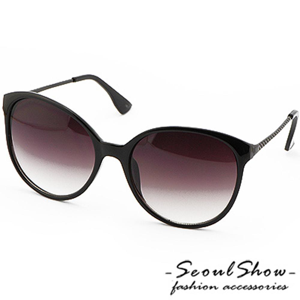 【Seoul Show】迷幻夜空 漸層色調太陽眼鏡 (2006 亮框漸層黑)
