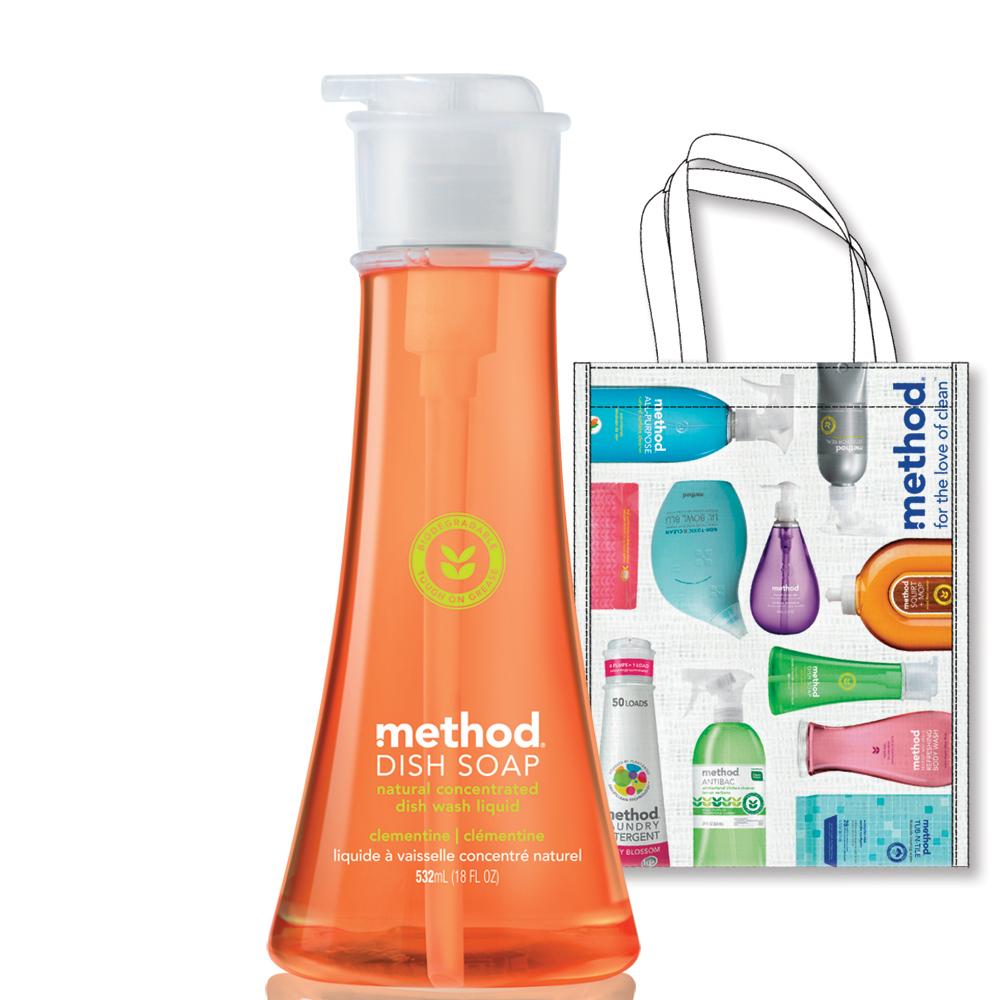 【箱購】Method美則天然濃縮洗碗精-克萊門氏柑橘532mlx6入送購物袋