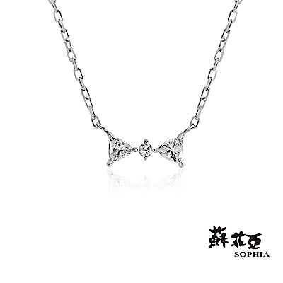 蘇菲亞SOPHIA - Love Bow系列0.10克拉鑽石套鍊