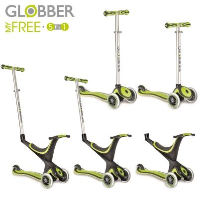 Globber 哥輪步 五合一兒童滑板車/滑步車/學步車-綠