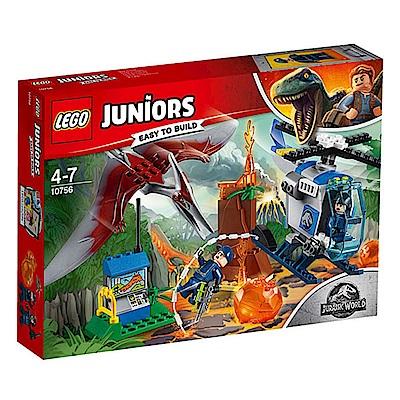 LEGO樂高 Juniors系列 10756 侏羅紀世界 無齒翼龍逃脫