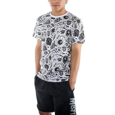 摩達客 美國Iron Fist鐵拳黑白圖騰 滿版GUTS & GLORY短T恤