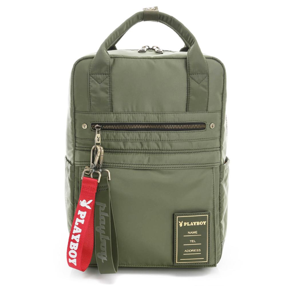 PLAYBOY- 中後背包 MA-1系列-軍感綠
