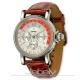 Jebely瑞士機械錶-流森新古城系列-三眼造型機械錶-白-39mm