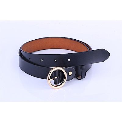 ZK2008BK黃金炫彩穿針式牛皮腰帶皮帶(腰圍在18-37吋內適用)