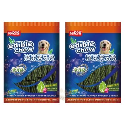 K.C.DOG《螺旋潔牙骨-葉綠素+雞肉》