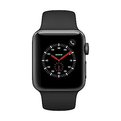 Apple Watch Series 3 行動網路,38mm太空灰鋁金屬錶殼/黑色運動錶帶 @ Y!購物