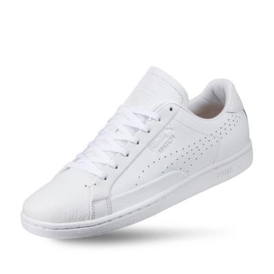 PUMA-Match 74 Tumbled 男女復古網球運動鞋-白色