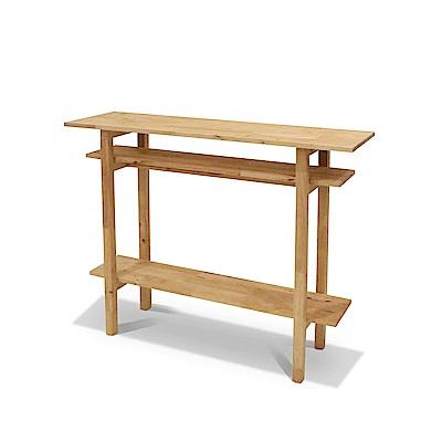 諾雅度-原生實木玄關桌-寬107深30高90cm