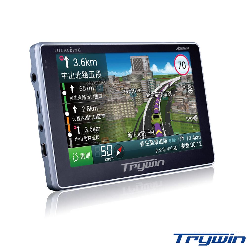 Trywin DTN-X688 5吋無線即時路況導航機-急速配