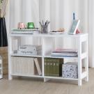 EASY HOME 二層四格加寬隔間展示收納櫃(90x29.6x56.1cm)-DIY