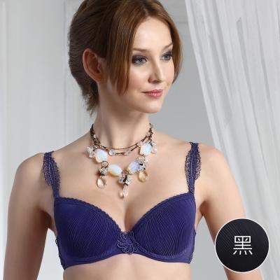 PANS BRA 女爵系列C-E罩壓摺性感(黑色)