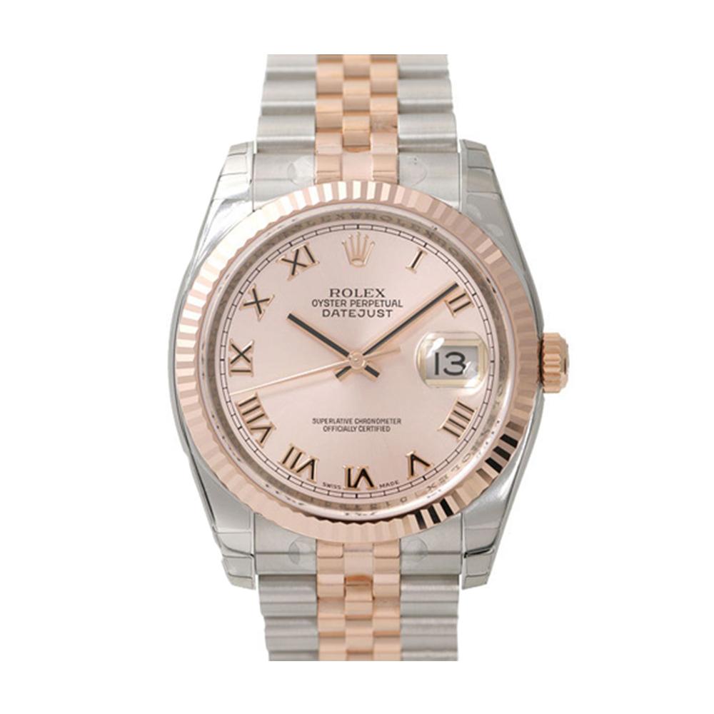 ROLEX 勞力士 DateJust 116231 蠔式恆動玫瑰金日誌型錶-金面羅馬字/36mm