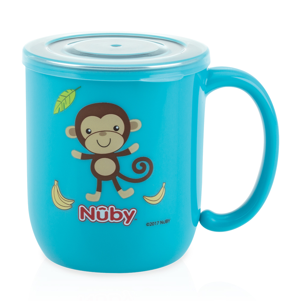 Nuby 不鏽鋼喝水杯_藍(18M+)