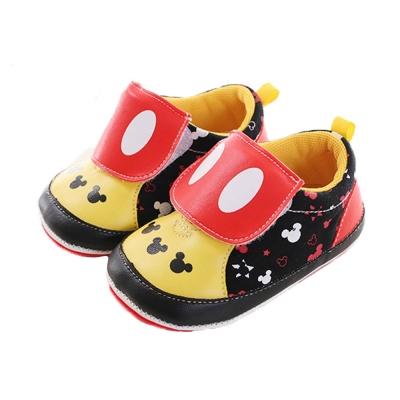 迪士尼米奇魔鬼貼止滑寶寶鞋 黑紅 sk0106 魔法Baby