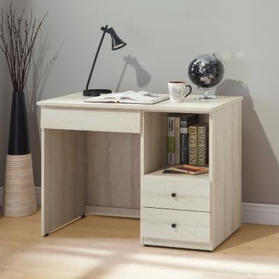 Bernice-威德3.2尺三抽半開放式書桌-97x53x76cm