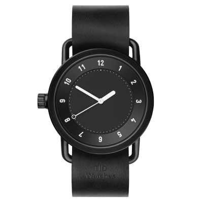 TID Watches No.1 Black-黑色真皮腕錶/40mm