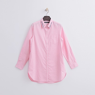 Hang Ten - 女裝 - 都會長版襯衫-粉紅