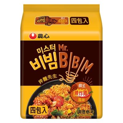農心 韓式炸雞風味拌麵(126gx4入)