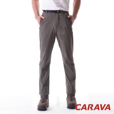 CARAVA《男款彈性排汗休閒褲》(深橄綠)