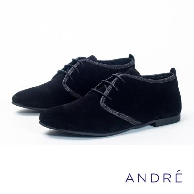 ANDRE-法式休閒平底鞋-貴族黑