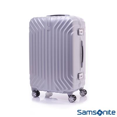 Samsonite新秀麗 23吋Tru-Frame PC時尚硬殼鋁框行李箱(炫銀)