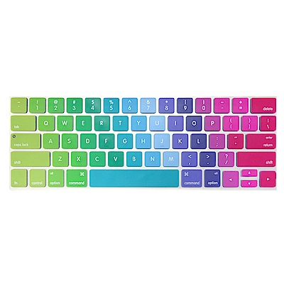 【SHOWHAN】MacBook Pro Touch Bar 13吋英文鍵盤膜 彩色