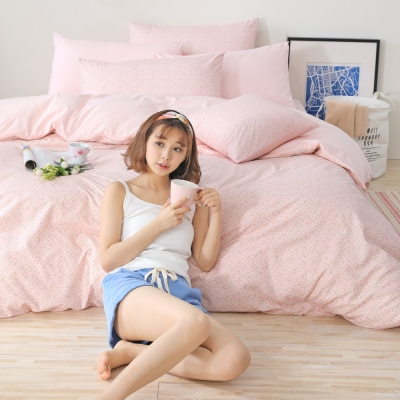GOODDAY-悄悄話(粉)-纖絨棉-防蹣系列-薄被套 (210x240cm)