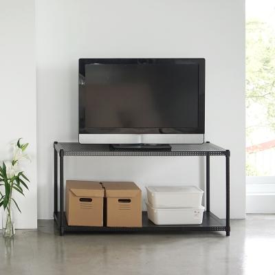 Home Feeling 平面沖孔二層架波浪架(2色)-120X45X60cm-DIY