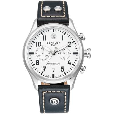 BENTLEY 賓利 AVIATOR系列 遨翔菁英計時手錶-白x黑/ 43 mm