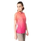 【hilltop山頂鳥】女款速乾抗UV吸濕排汗彈性POLO衫S14FC9-橘印花