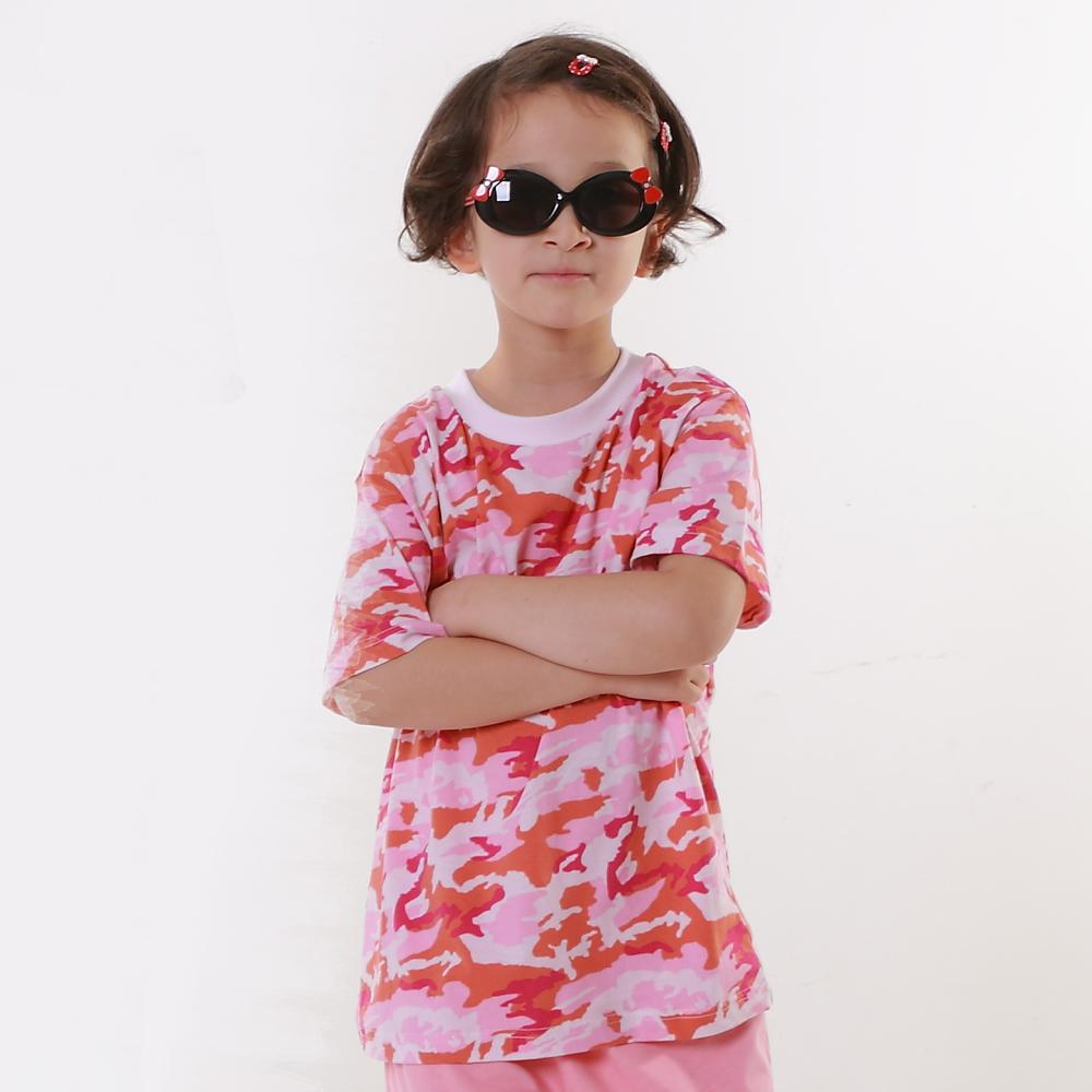 Annypepe 女童迷彩短袖套裝_美國精梳棉