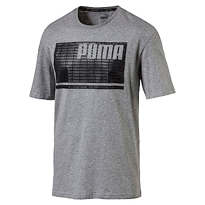 PUMA-男性基本系列Rebel夏天短袖T恤-中麻花灰-亞規