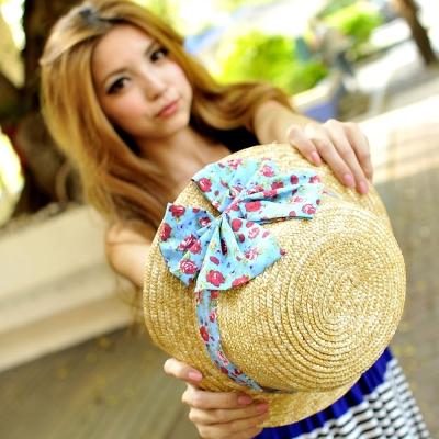 Aimee Toff 日系甜美女孩遮陽帽(藍)