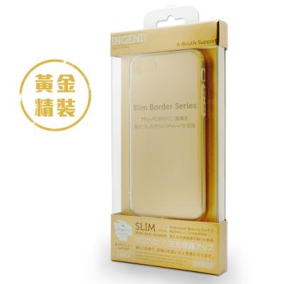 INGENI iPhone7 / 8 (4.7吋) 超薄抗震雙材質透明保護殼-玫...