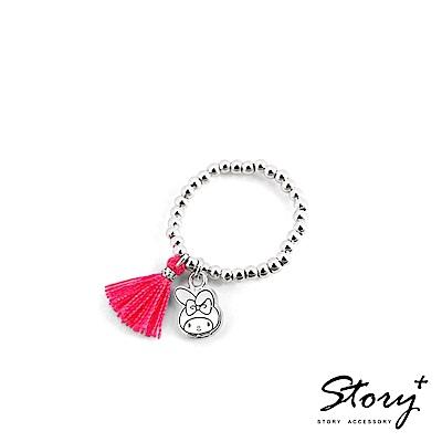 STORY-PinkHolic圓珠純銀彈性戒指-MyMelody美樂蒂款