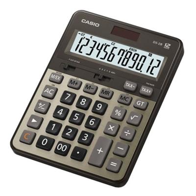 CASIO 12位數頂級專業商用桌上型計算機DS-2B-GD-黑/古銅金色