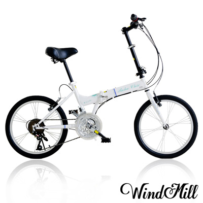 WindMill 20吋24速波希米亞彈簧大坐墊折疊車 BOHO CHIC