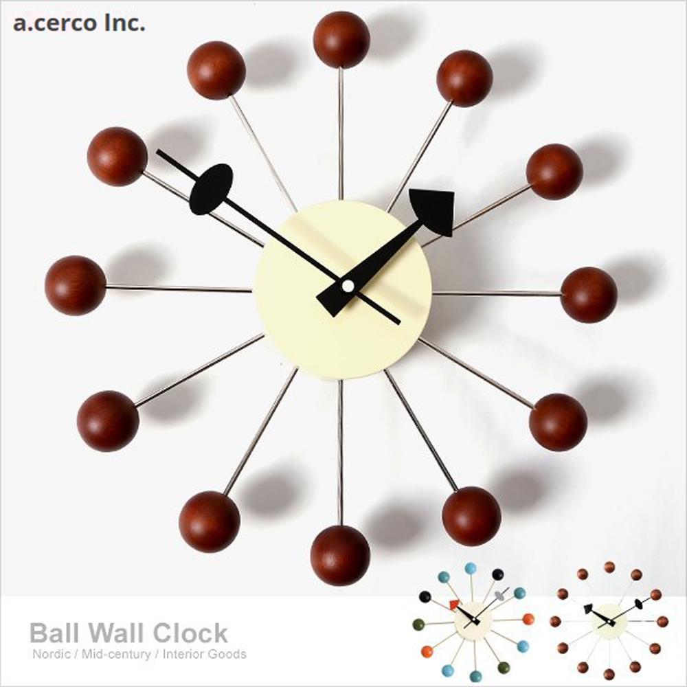 a.cerco  經典彩球鐘-Ball Clock-深木