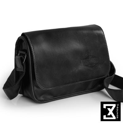 74盎司 復古仿皮革斜背小方包[G-872]黑
