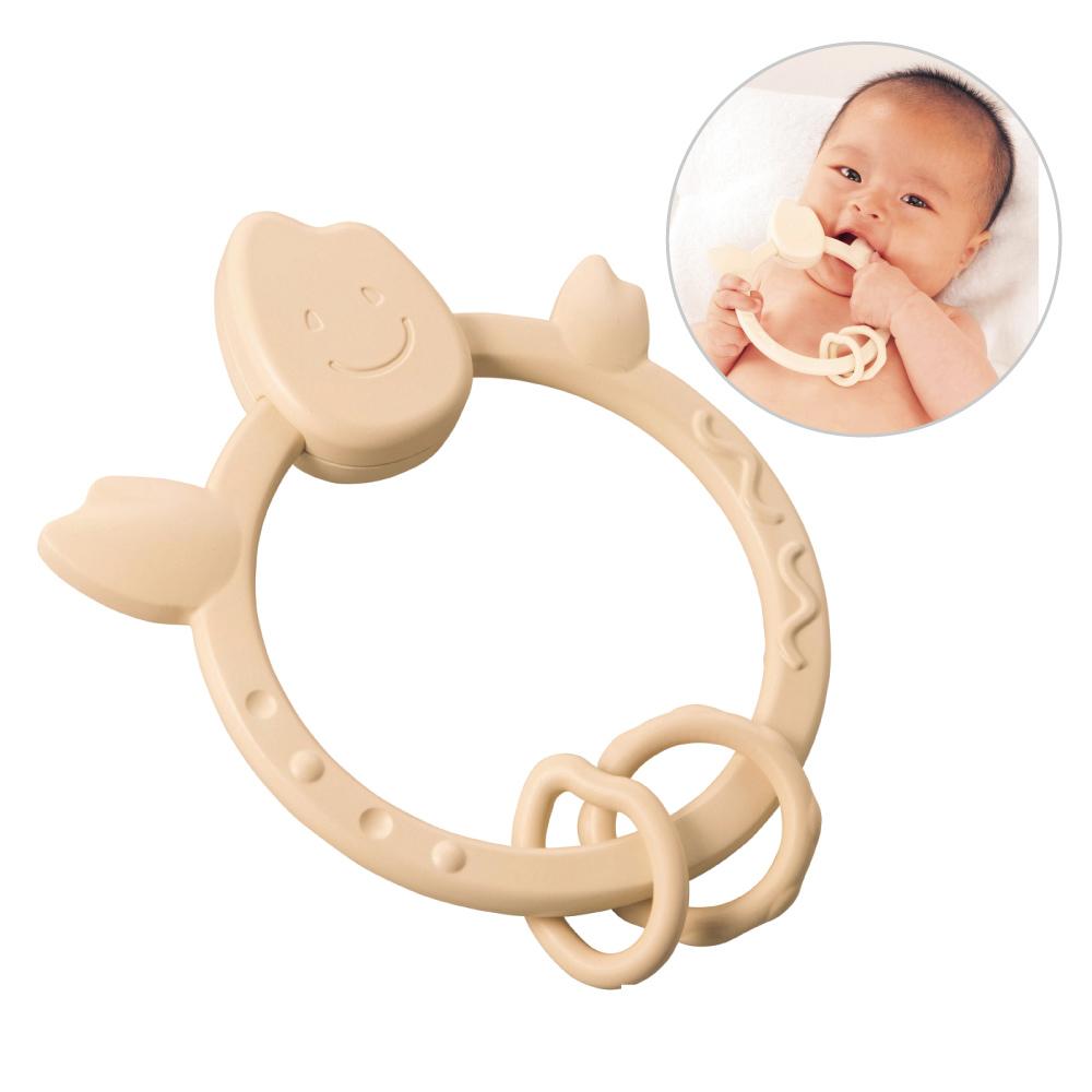 日本製People-米的環狀咬舔玩具(米製品玩具系列)(0m+)(固齒器)