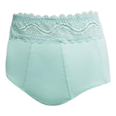 【曼黛瑪璉】菠蘿包  超高腰三角修飾褲(海水藍)