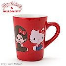 Sanrio HELLO KITTY*夢奇奇MONCHHICHI系列陶磁馬克杯