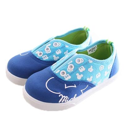 迪士尼 米奇 鬆緊帶帆布鞋 藍 sk0206 魔法Baby