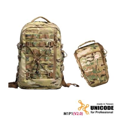 UNICODE M1P1 雙肩攝影背包 槍包套組(V2.0版)-多地迷彩