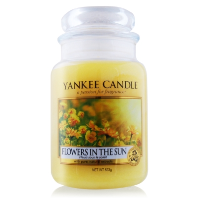 YANKEE CANDLE香氛蠟燭-陽光下綻放的花朵623g