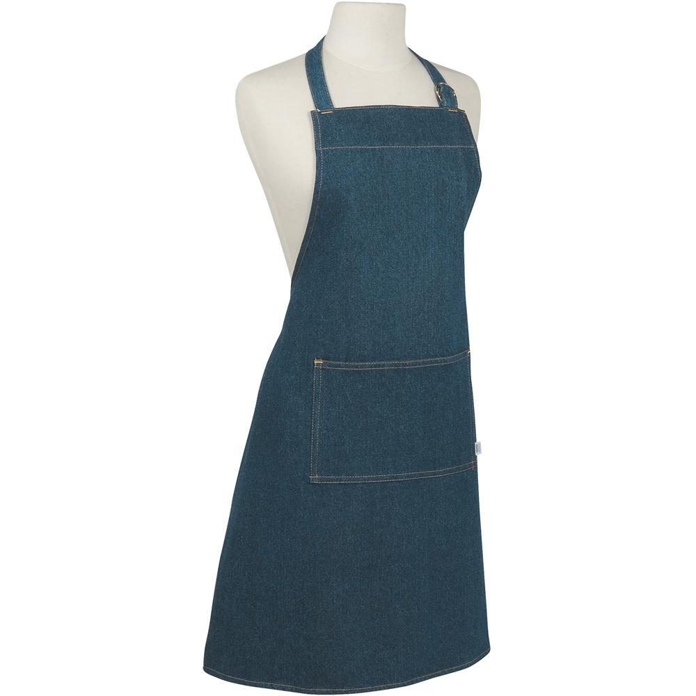 NOW 平口單袋圍裙(牛仔藍)